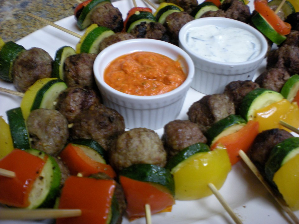 LAMB MEATBALL SKEWERS