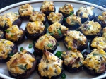 STUFFED MUSHROOMS WITH CREAM CHEESE, BACON, AND SCALLIONS