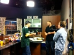 ON SET AT FOX 40 MORNING SHOW SUPER BOWL SUNDAY