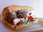 LAMB MEAT BALL SUB WITH HOMEMADE TZAZIKI SAUCE