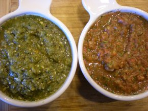 ROASTED RED AND GREEN SALSA